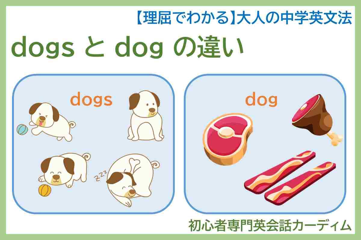 dogs と dog の違い